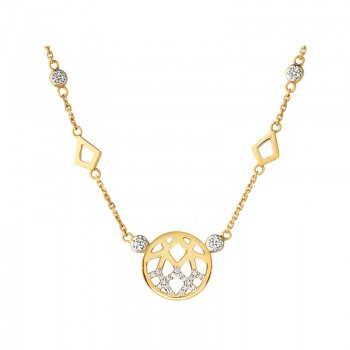 Links Of London Timeless 18kt Gold & Diamond Station Necklace