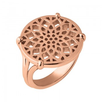 Links Of London Timeless 18kt Rose Gold Vermeil Coin Ring