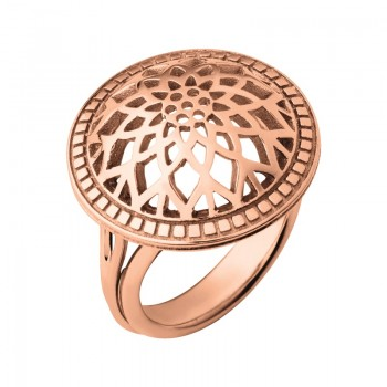 Links Of London Timeless 18kt Rose Gold Vermeil Domed Ring