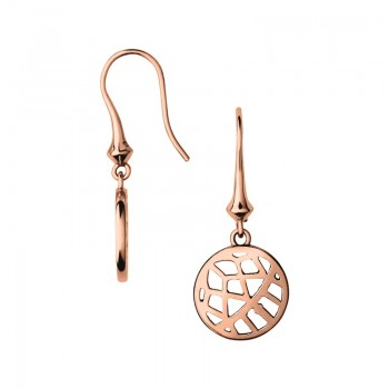 Links Of London Timeless 18kt Rose Gold Vermeil Small Arch Drop Earrings