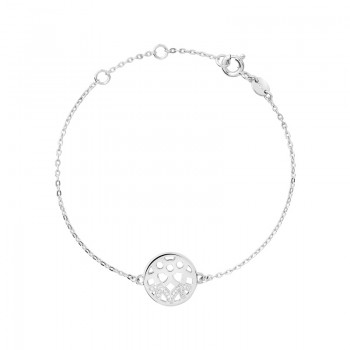 Links Of London Timeless Sterling Silver & Diamond Bracelet