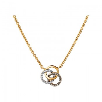 Links Of London Treasured 18kt Yellow Gold Vermeil, Champagne & White Diamond Necklace