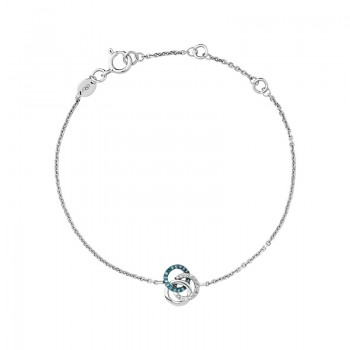 Links Of London Treasured Sterling Silver, White & Blue Diamond Bracelet