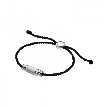 Links Of London Venture Mens Black Cord Bracelet