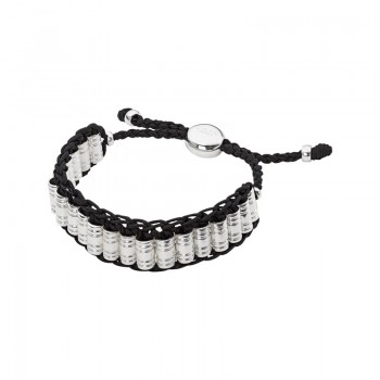 Links Of London Venture Mens Woven Cord Black Bracelet