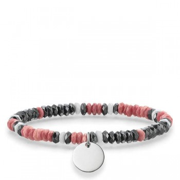 Thomas Sabo bracelet Boho hot pink grey Women Bracelets LBA0025-832-7
