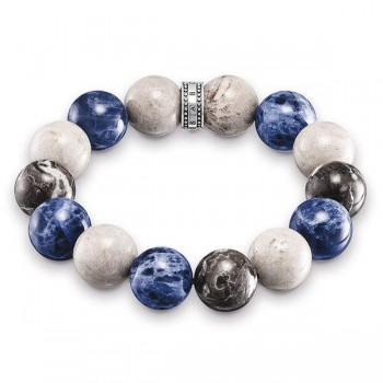 Thomas Sabo bracelet Power Bracelet blue, white, grey Women Bracelets A1580-362-7