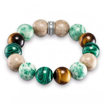 Thomas Sabo bracelet Power Bracelet brown, green Women Bracelets A1581-365-7