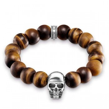 Thomas Sabo bracelet Power Bracelet brown skull Women Bracelets A1576-826-2