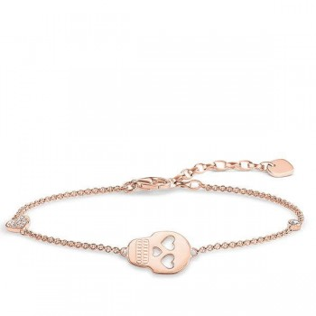 Thomas Sabo bracelet skull with heart Women Bracelets A1487-416-14