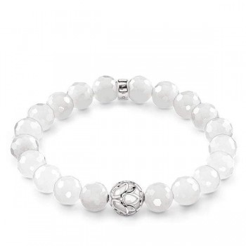 Thomas Sabo bracelet white lotus flower Women Bracelets J_A0018-744-14