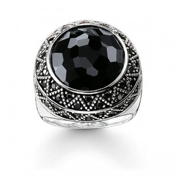 Thomas Sabo cocktail ring black zig zag Women Rings TR2052-641-11