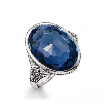 Thomas Sabo cocktail ring dark blue Women Rings TR2040-640-32