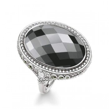 Thomas Sabo cocktail ring grey Women Rings TR2023-649-5