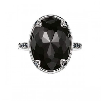 Thomas Sabo cocktail ring lotus black Women Rings J_TR0006-729-11