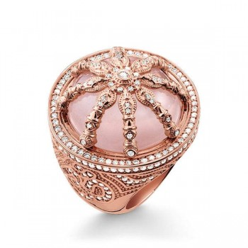 Thomas Sabo cocktail ring pink Karma Wheel Women Rings TR2025-537-9