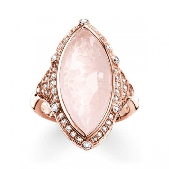Thomas Sabo cocktail ring pink lotus Women Rings TR2041-537-9
