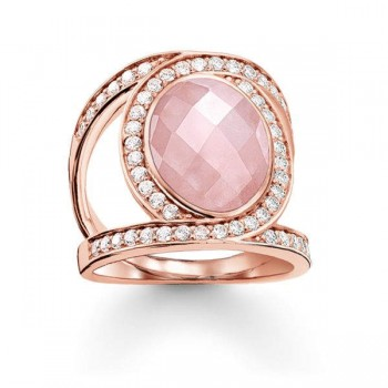 Thomas Sabo cocktail ring pink Love Knot Women Rings TR2015-537-9