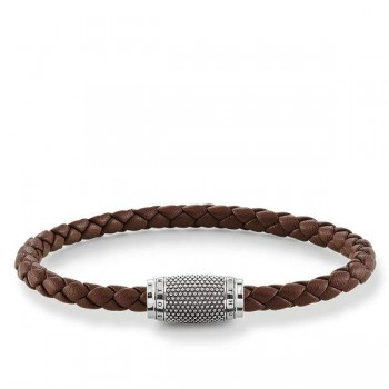 Thomas Sabo leather strap brown Kathmandu Women Bracelets UB0008-823-2