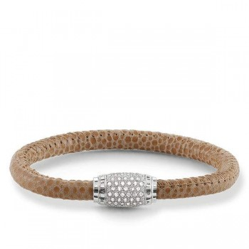 Thomas Sabo leather strap brown pavé Women Bracelets UB0003-839-19