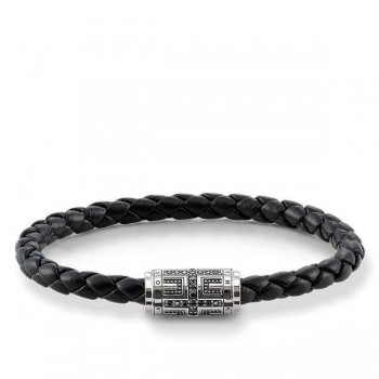 Thomas Sabo leather strap cross Women Bracelets UB0007-820-11