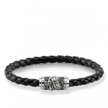Thomas Sabo leather strap dragon Men Bracelets UB0015-820-11