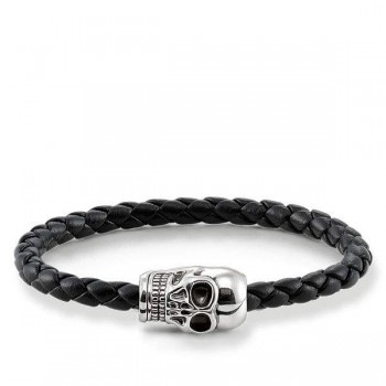 Thomas Sabo leather strap skull Men Bracelets UB0018-823-11