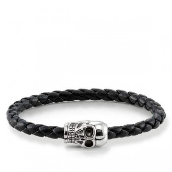 Thomas Sabo leather strap skull Women Bracelets UB0010-823-11