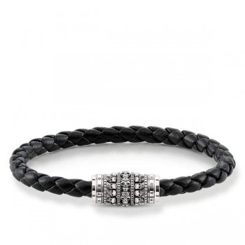 Thomas Sabo leather strap skulls Men Bracelets UB0016-823-11