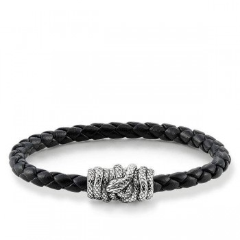 Thomas Sabo leather strap snake Men Bracelets UB0013-823-11