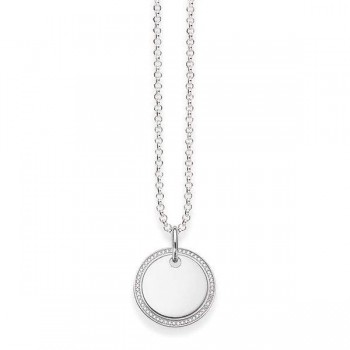 Thomas Sabo necklace disk pavé Women Necklaces KE1480-051-14
