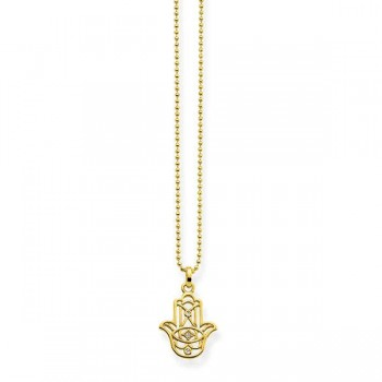 Thomas Sabo necklace Hand of Fatima ornamentation Women Necklaces D_KE0017-924-39