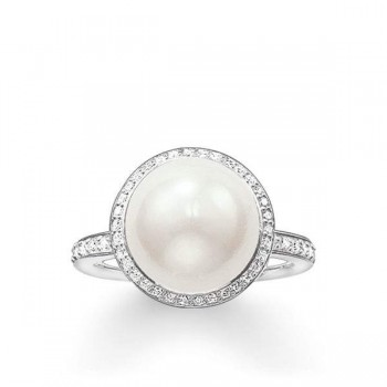 Thomas Sabo pearl ring Women Rings TR2055-167-14