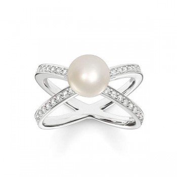Thomas Sabo pearl ring Women Rings TR2077-167-14