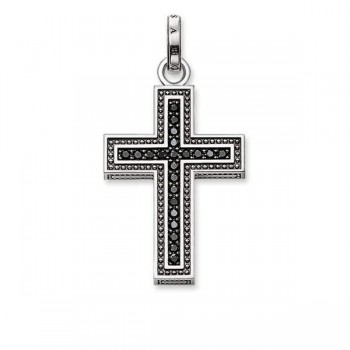 Thomas Sabo pendant black cross pavé Women Pendants PE530-051-11
