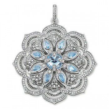 Thomas Sabo pendant blue lotus flower Women Pendants PE694-644-31