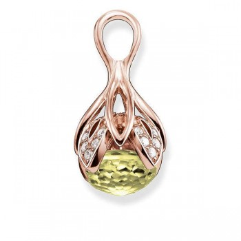 Thomas Sabo pendant green lotus flower Women Pendants J_PE0014-750-33