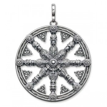 Thomas Sabo pendant Karma Wheel blackened Women Pendants PE667-001-12