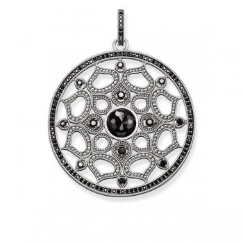 Thomas Sabo pendant lotus black Women Pendants PE691-641-11