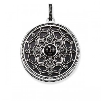 Thomas Sabo pendant lotus black Women Pendants PE734-641-11