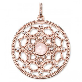 Thomas Sabo pendant pink lotus large Women Pendants PE692-417-9