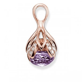 Thomas Sabo pendant purple lotus flower Women Pendants J_PE0014-717-13