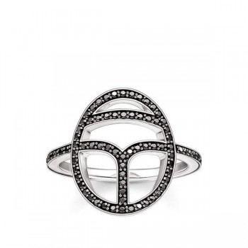 Thomas Sabo ring black scarab Women Rings TR2109-643-11
