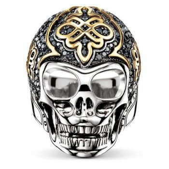 Thomas Sabo ring black skull with diamond Women Rings J_TR0015-723-11
