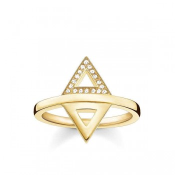 Thomas Sabo ring triangle Women Rings D_TR0019-924-14