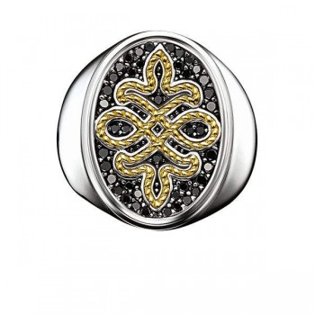 Thomas Sabo signet ring diamond Love Knot Women Rings J_TR0013-723-11