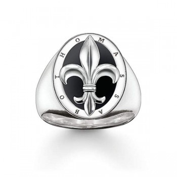 Thomas Sabo signet ring fleur-de-lis Men Rings TR1967-024-11