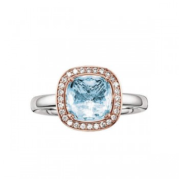 Thomas Sabo solitaire ring blue Women Rings J_TR0002-763-31