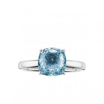 Thomas Sabo solitaire ring blue Women Rings J_TR0005-761-31
