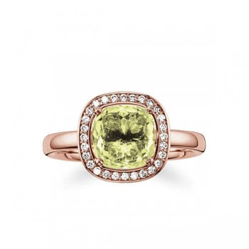 Thomas Sabo solitaire ring green Women Rings J_TR0002-750-33